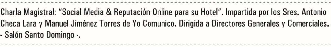 charla redes sociales para hoteles punta cana
